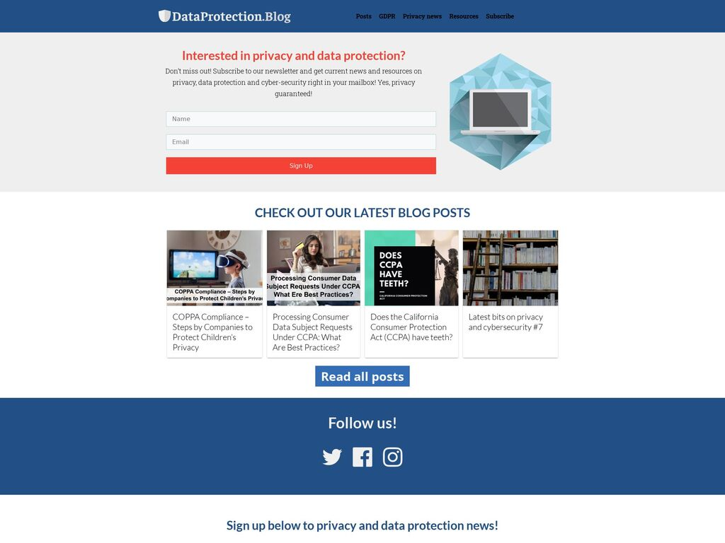 DataProtection.Blog