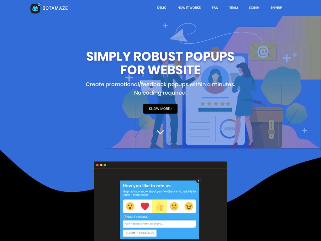 BotAmaze - Website Popups