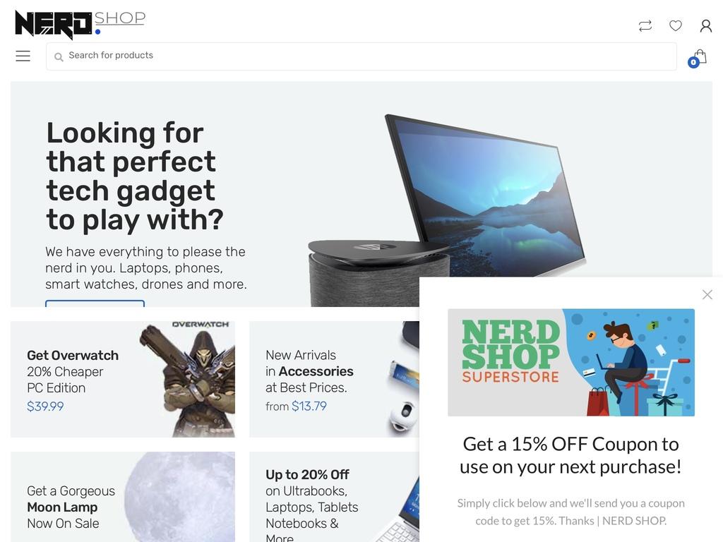 For A Nerd Tech E-commerce