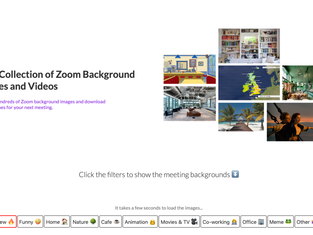 Zoom Background Image & Video Directory