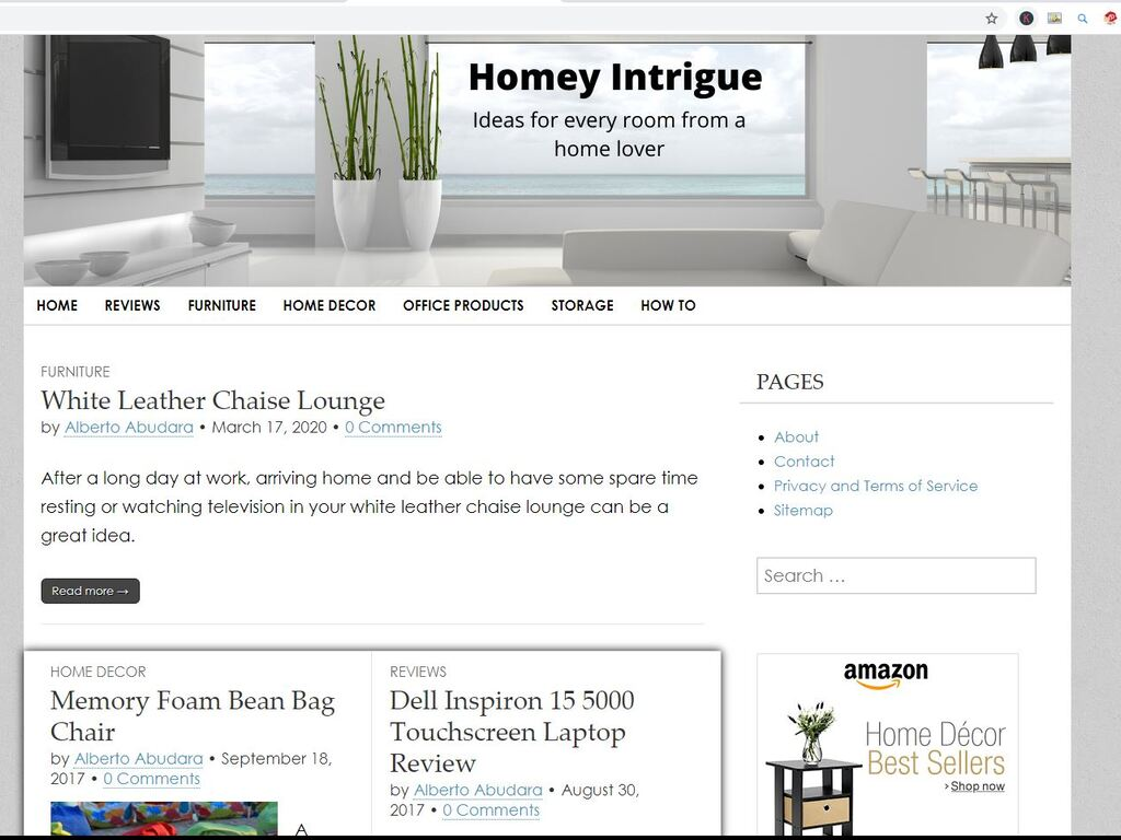 Home Decor Website with Top 10 Google Rankings