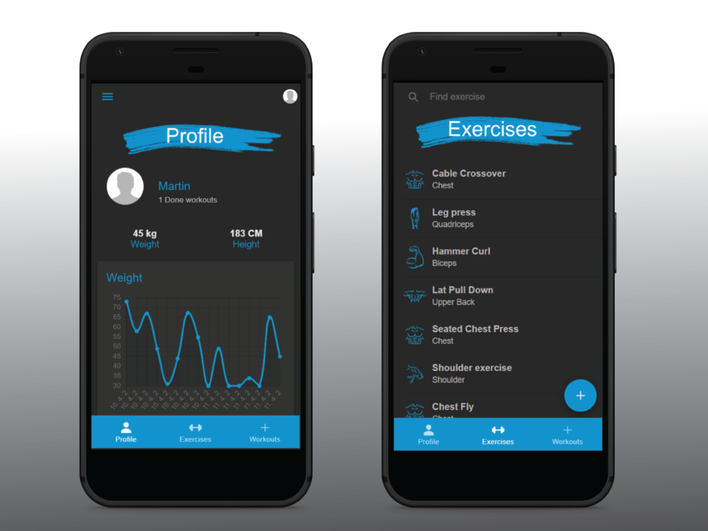 Stronger - Fitness mobile app