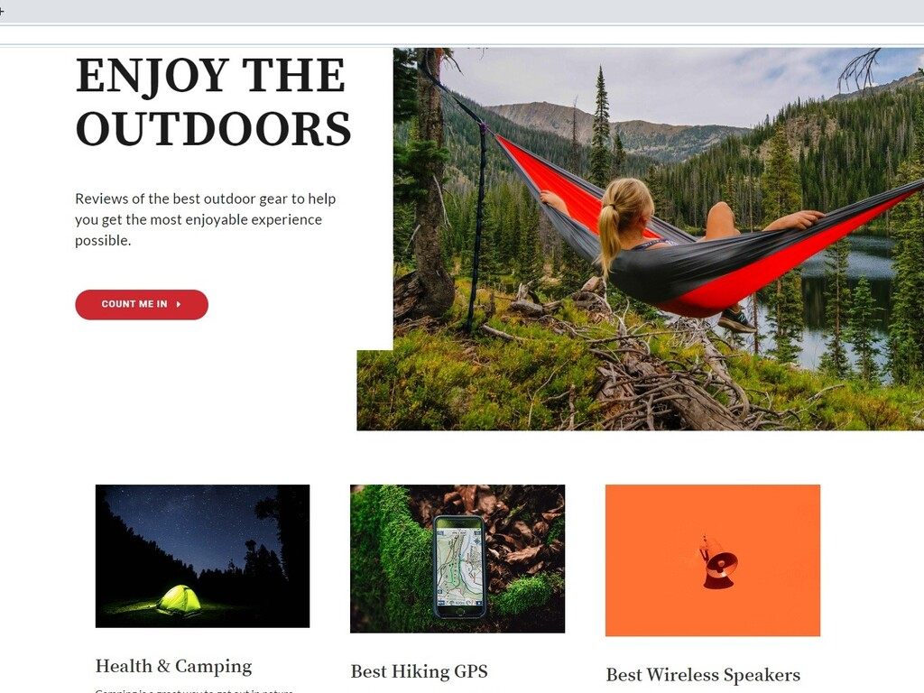 Outdoors Review Website