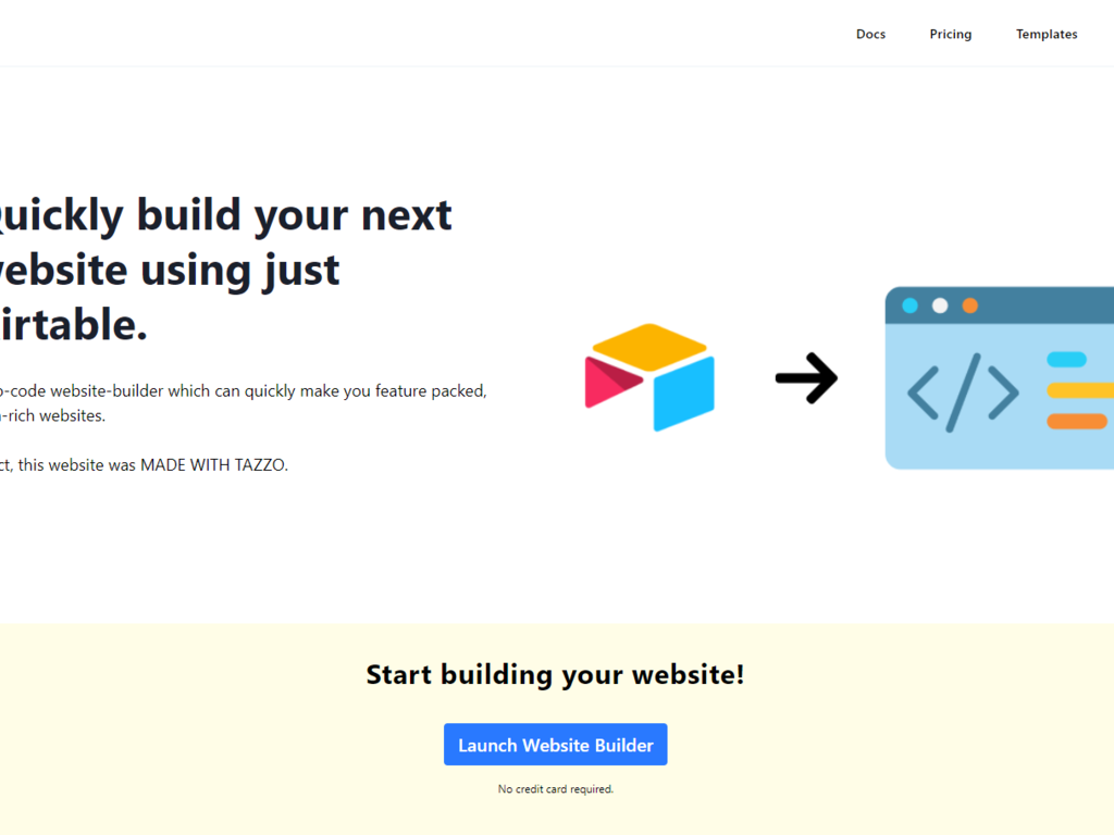 Tazzo Website Builder