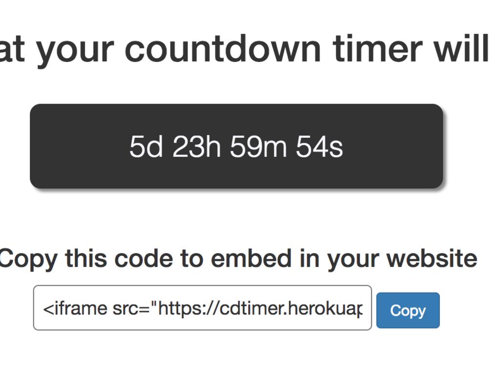 Perpetual Countdown Timer