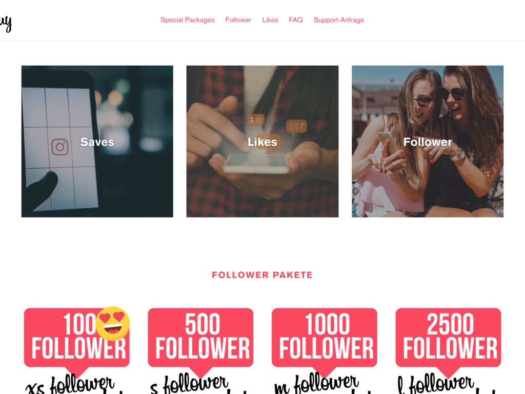 Shopify Store to Buy Instagram Likes & Followers