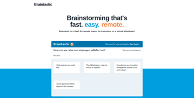 Remote brainstorming on a virtual whiteboard
