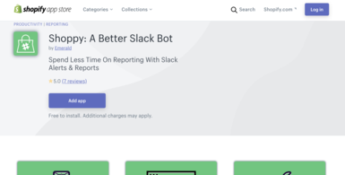 A Shopify Slack Bot