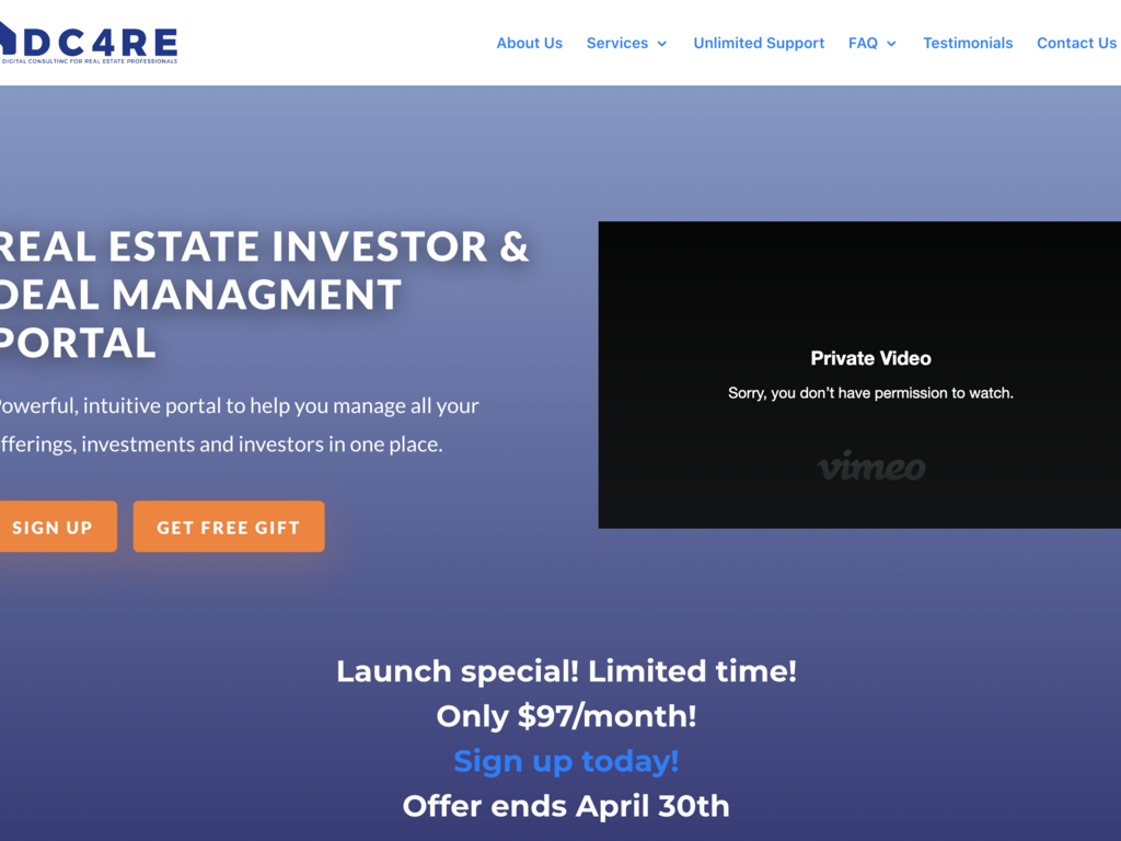 Digital Marketing Agency Website for Real Estate Professionals