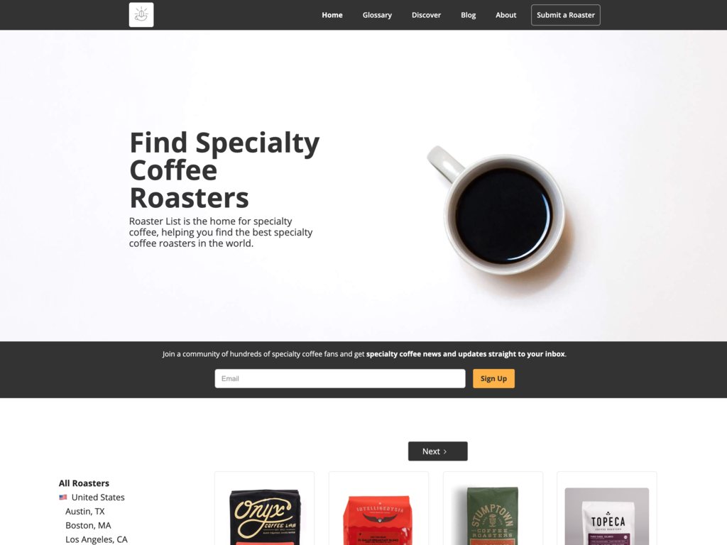 Find Speciality Coffee Roasters