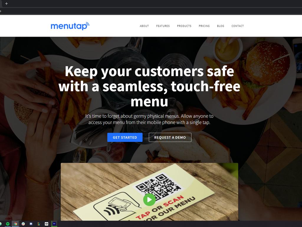 Contactless Menus for Restaurants