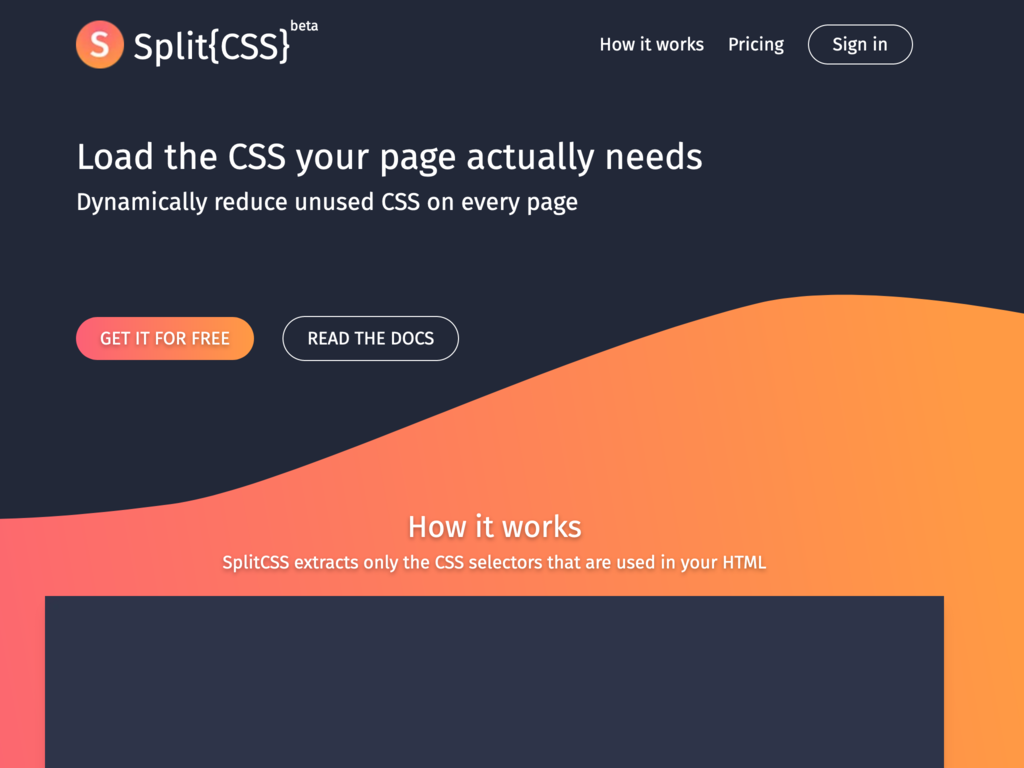 SaaS for Web Page Performance