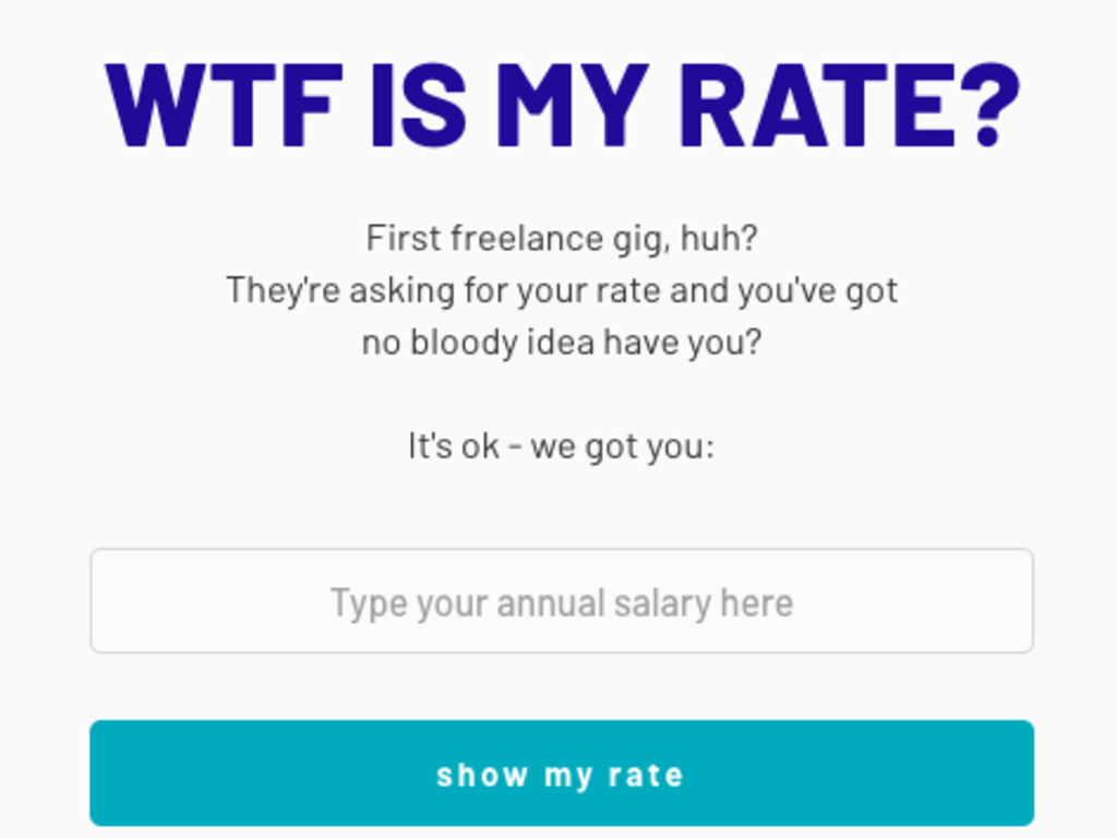 Simple Freelance Rate Calculator