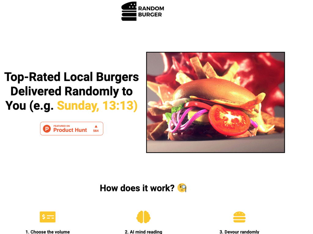 Random Burger Subscription Service
