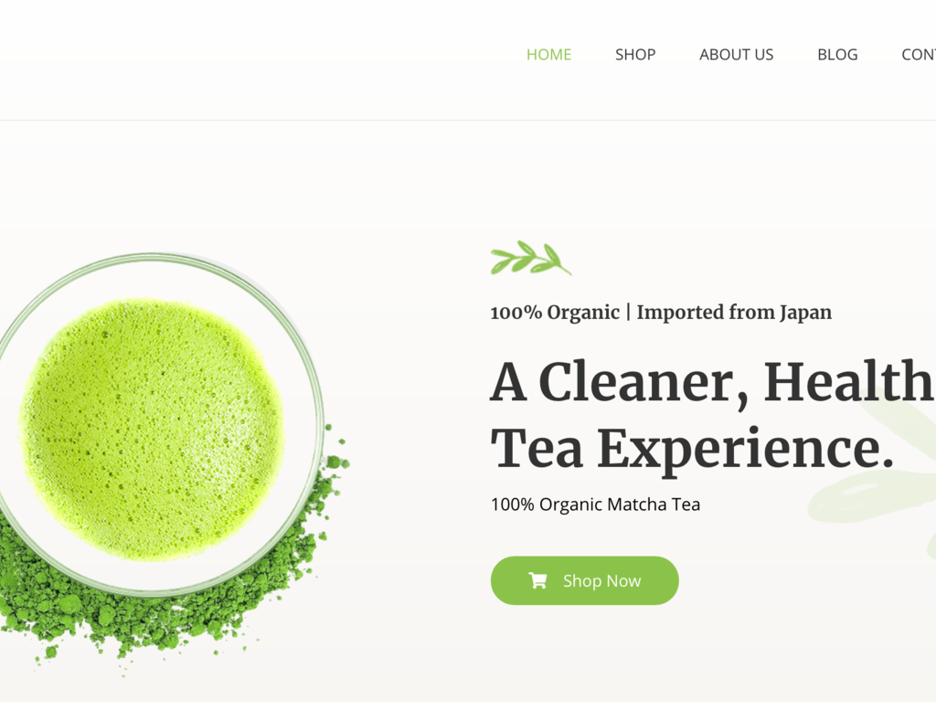 Organic Tea E-commerce Shop