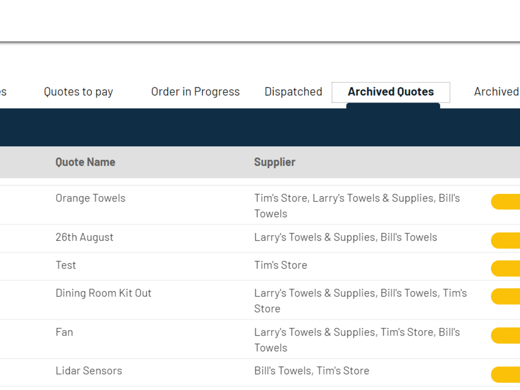 Supplier and Order Management App