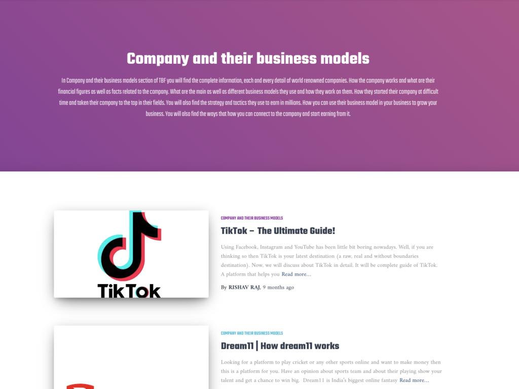 Business Model Blog