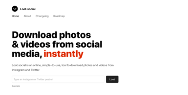 Download photos & videos from social media, instantly