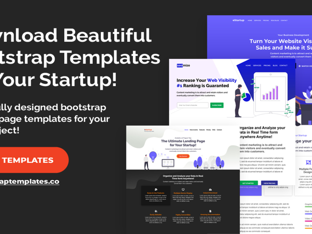 Boostrap Landing Page Templates