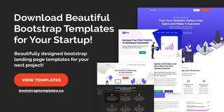Boostrap Landing Page Templates