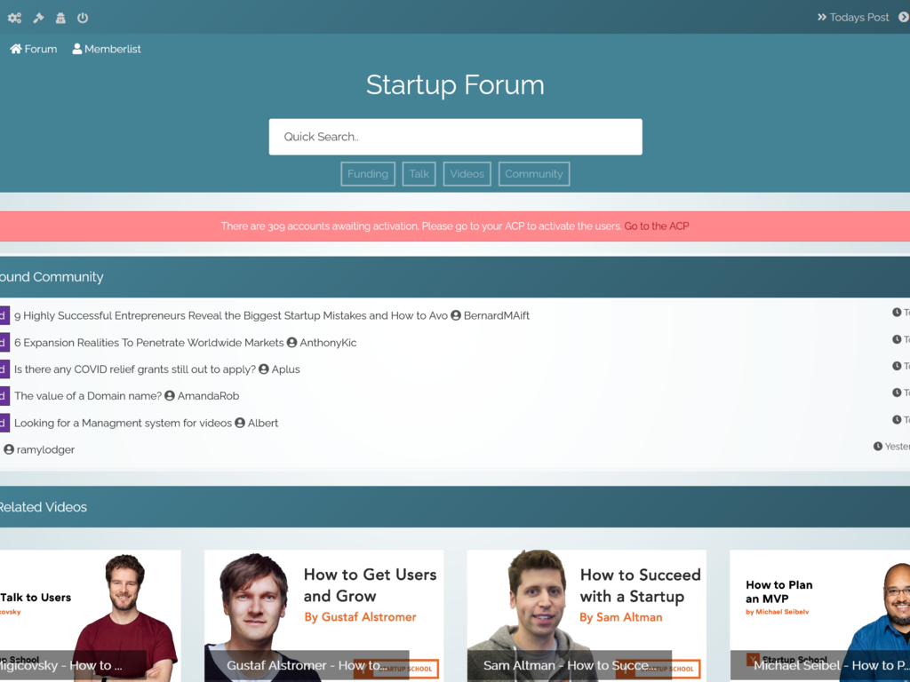 Startup Forum Adsense Approved