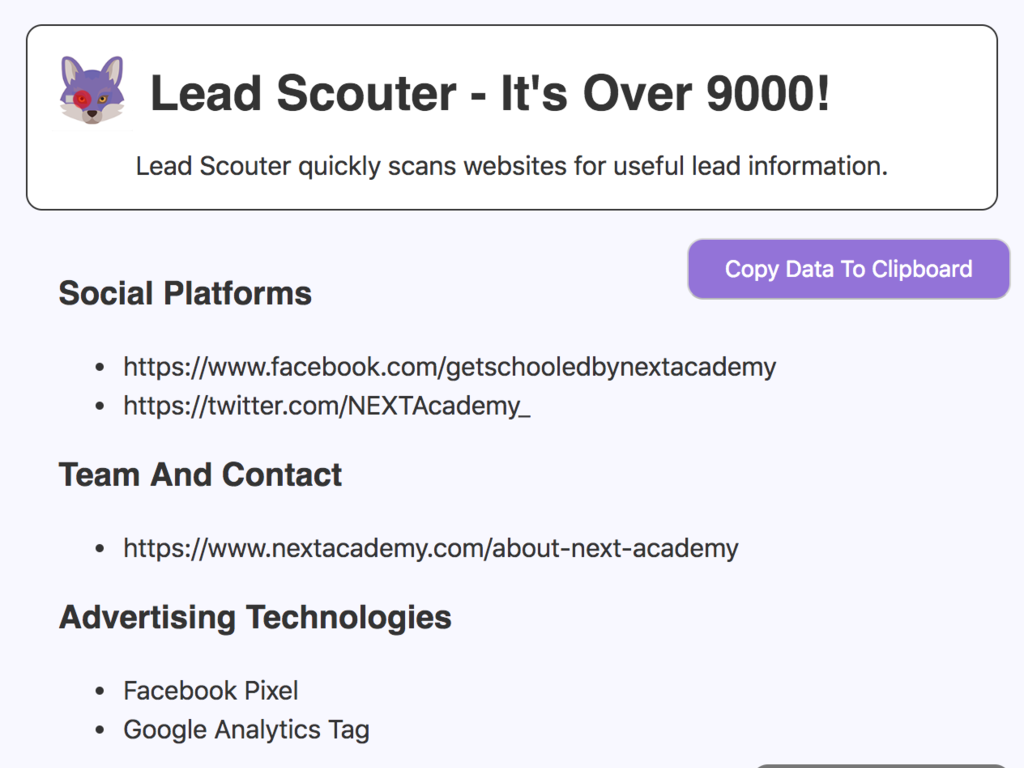 Lead Scouter