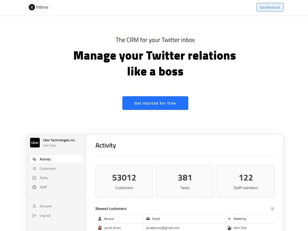 CRM for Your Twitter Inbox (SaaS)