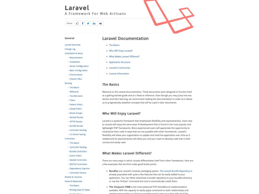 Laravel 3 Documentation Website