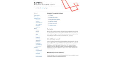 Laravel 3 Documentation Website