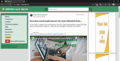Online Content Collection Sharing Platform