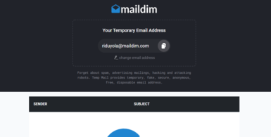 Disposable Temporary Fake Email