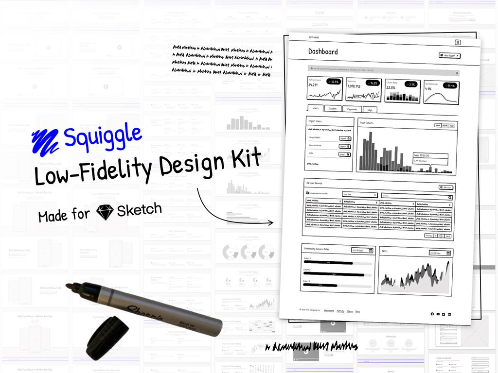 Low-Fidelity Design System for Sketch