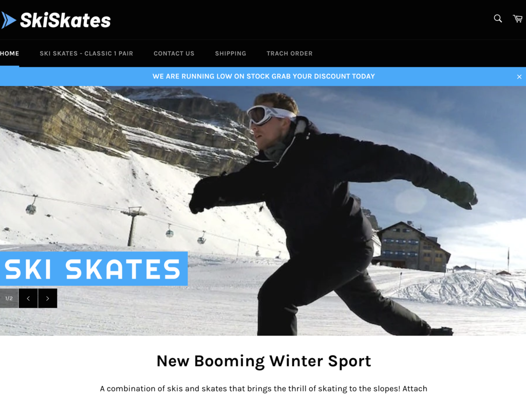 Ski Skates E-commerce Store