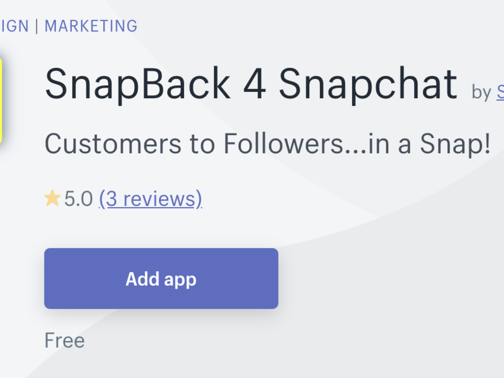 Shopify App to Convert Visitors to Followers on SnapChat