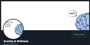 Anxiety & Wellness Twitter Account