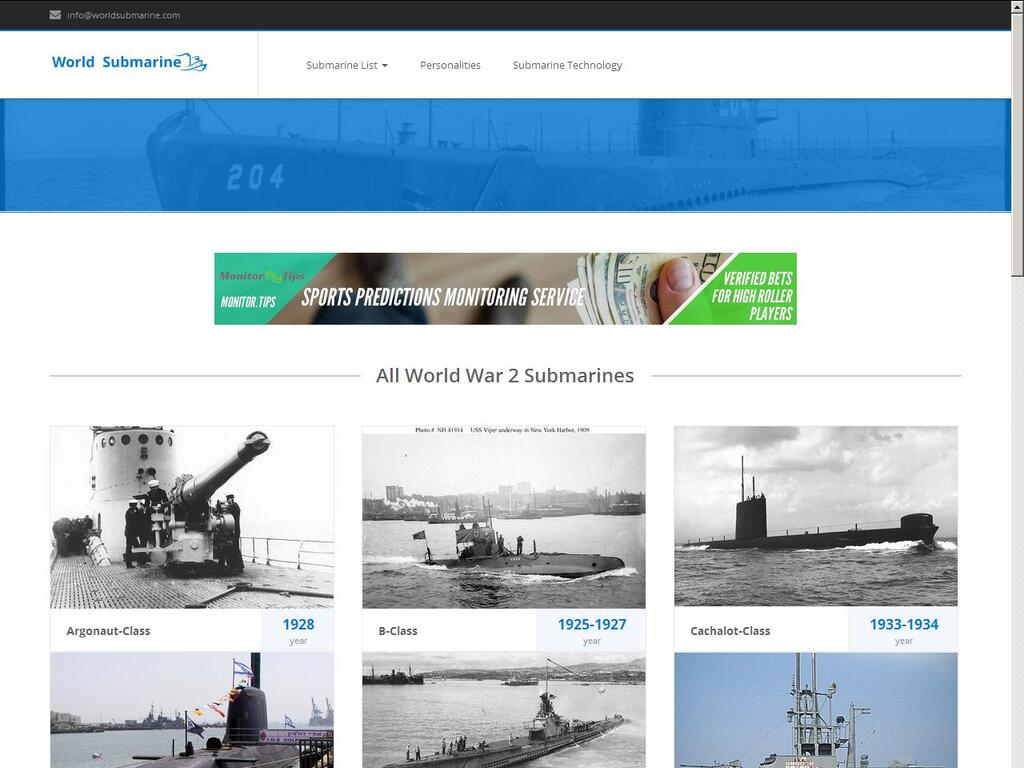 Passive Income World War II Submarine Site