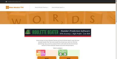 Word Whizzle Tips Website
