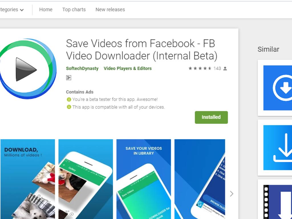 Video Downloader App for Facebook