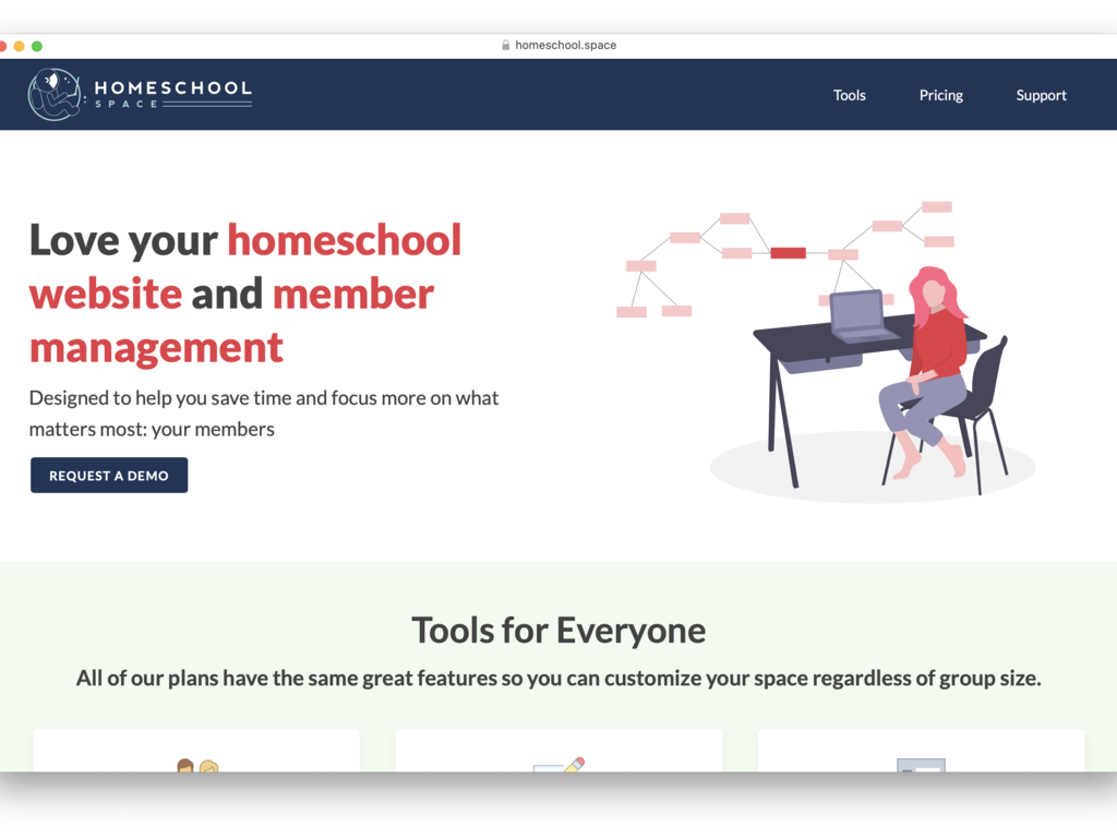 Homeschool Website and Membership Management Platform