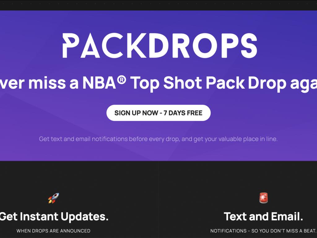 NBA Top Shot SMS Notification SaaS