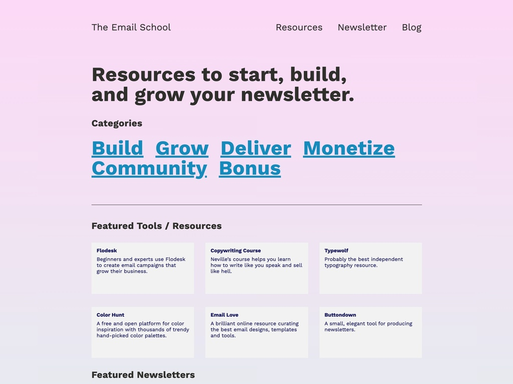 Resource Website to Start, Build, and Grow Newsletters