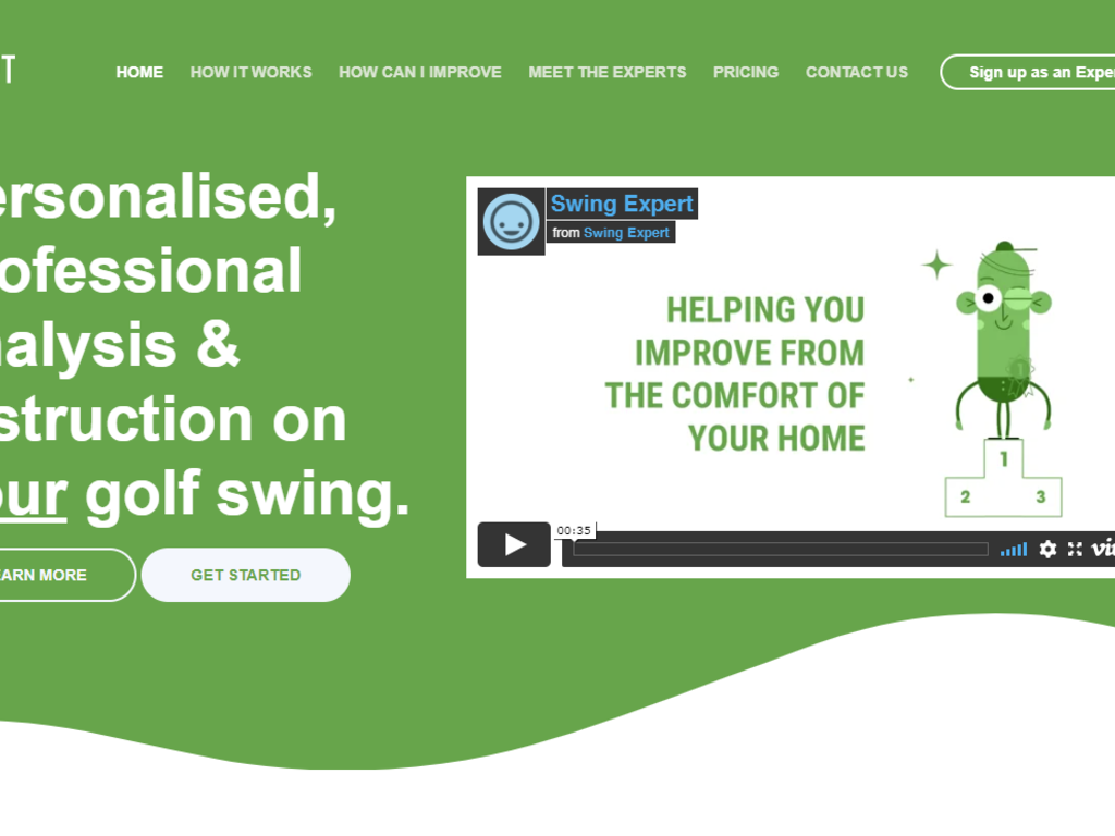 Productised Service: Golf Swing Analysis