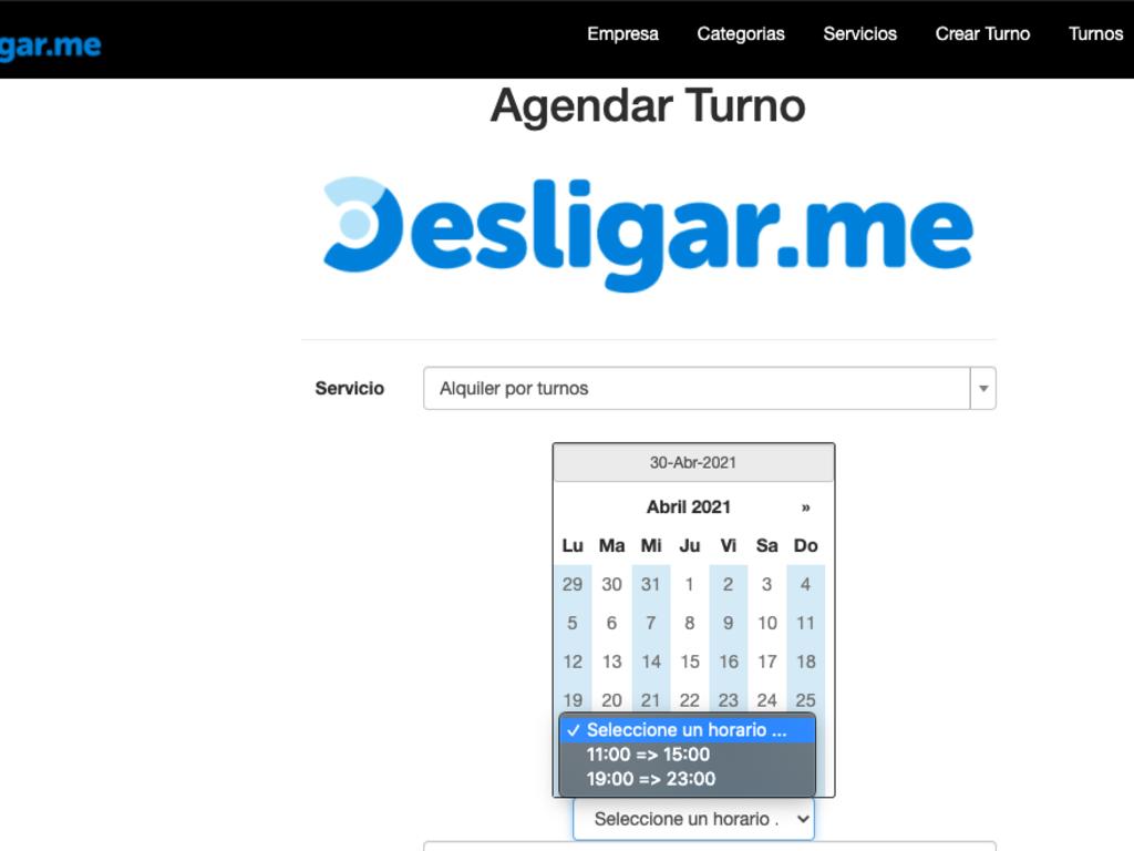 Online Shift System (Spanish Language)
