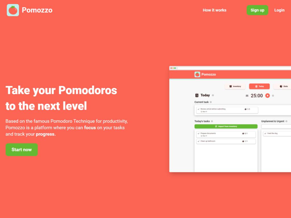 Pomodoro Productivity Web App