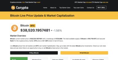Live Cryptocurrency Prices and Market Caps