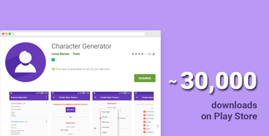 Android App Character Generator
