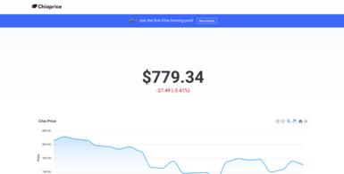 Chia Crypto Price Tracking Website