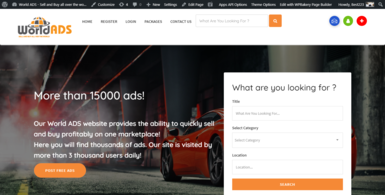 Marketplace Website with Automated Advertising.