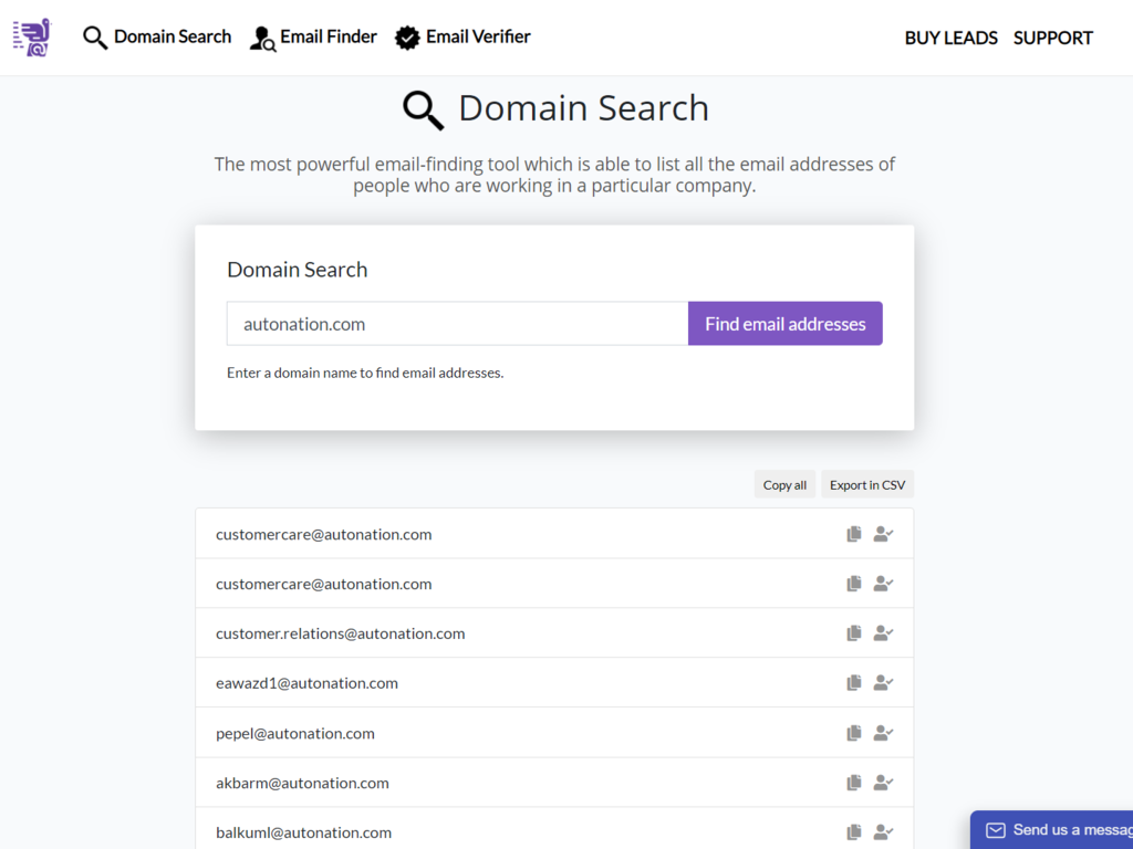 Email Search and Verification Service