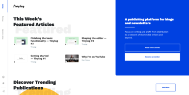 Publishing Platform for Blogs and Newsletters